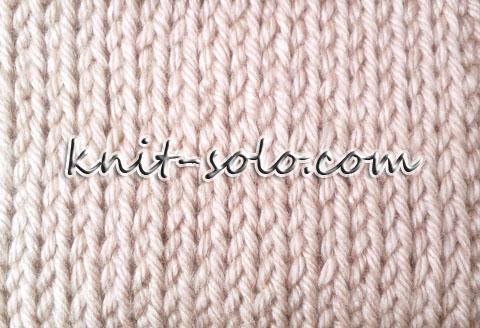 Тунисская лицевая петля - knit-solo.com
