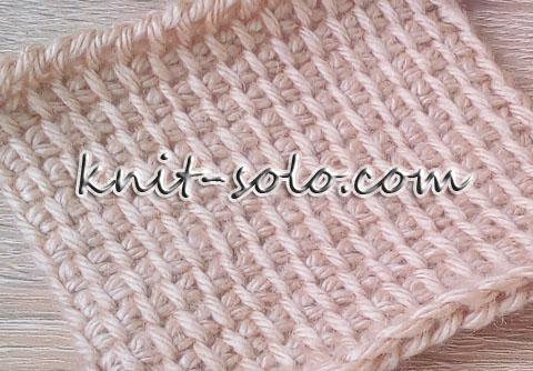 Простая плетёнка - knit-solo.com