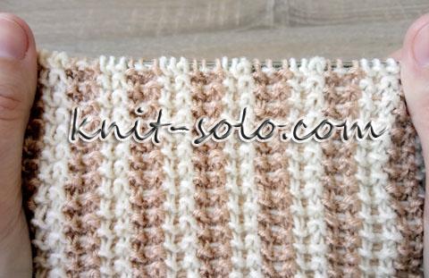 Твидовые полосы спицами - knit-solo.com