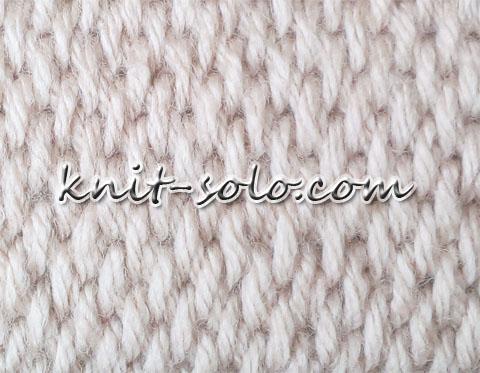Узор рогожка - knit-solo.com