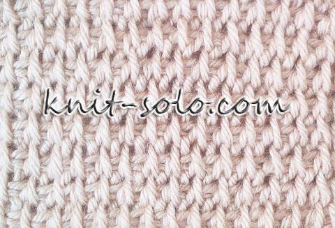 Узор с накидами тунисским крючком - knit-solo.com