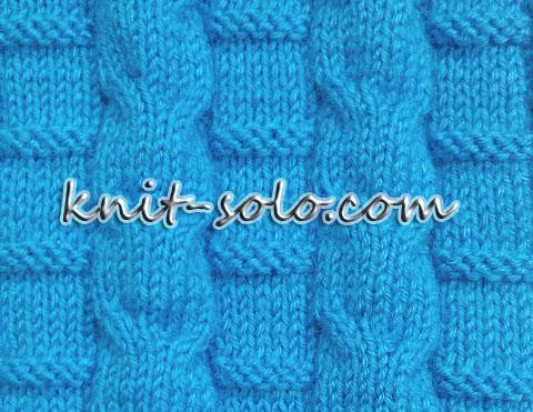 простой узор спицами - knit-solo.com