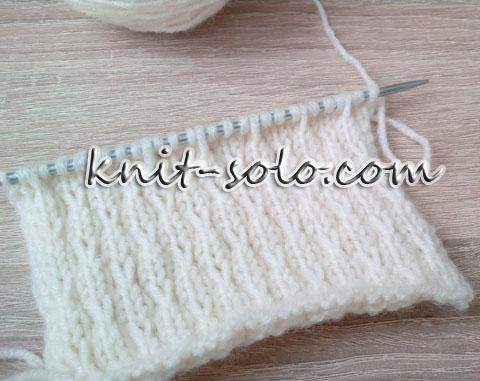 Красивый узор для вязания свитера - knit-solo.com
