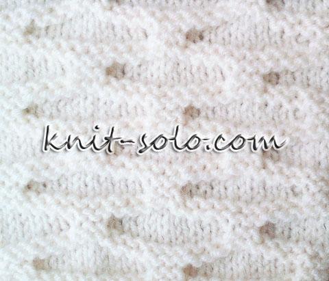 Простой узор спицами для кардигана, для кофты - knit-solo.com