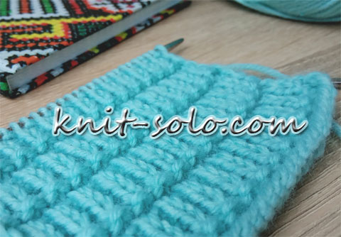 Узор спицами, лицевыми и изнаночными петлями - knit-solo.com