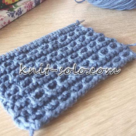 Простой рельефный узор спицами - knit-solo.com